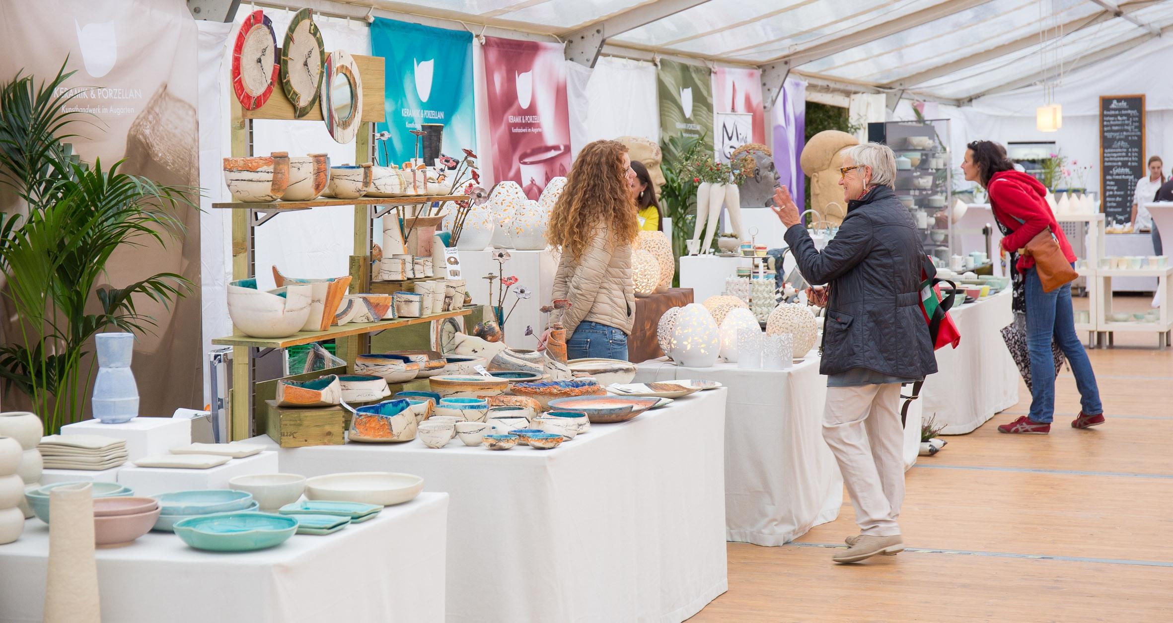 Keramik & Porzellan im Augarten - Kunst-Design-Handwerksmarkt